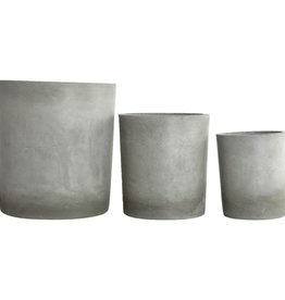 House Doctor Planter, Ave, Light grey Medium M: dia: 24 cm, h: 26 cm