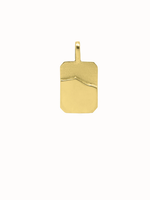 Flawed Single wave pendant Gold plated