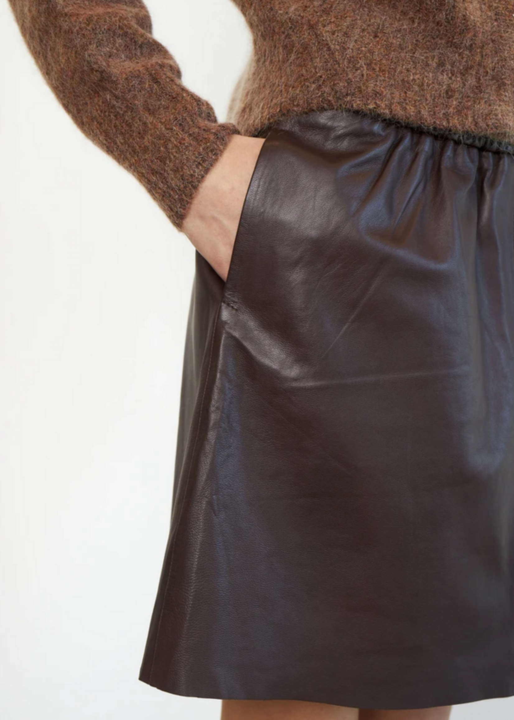 Second Female Leather Mini Skirt