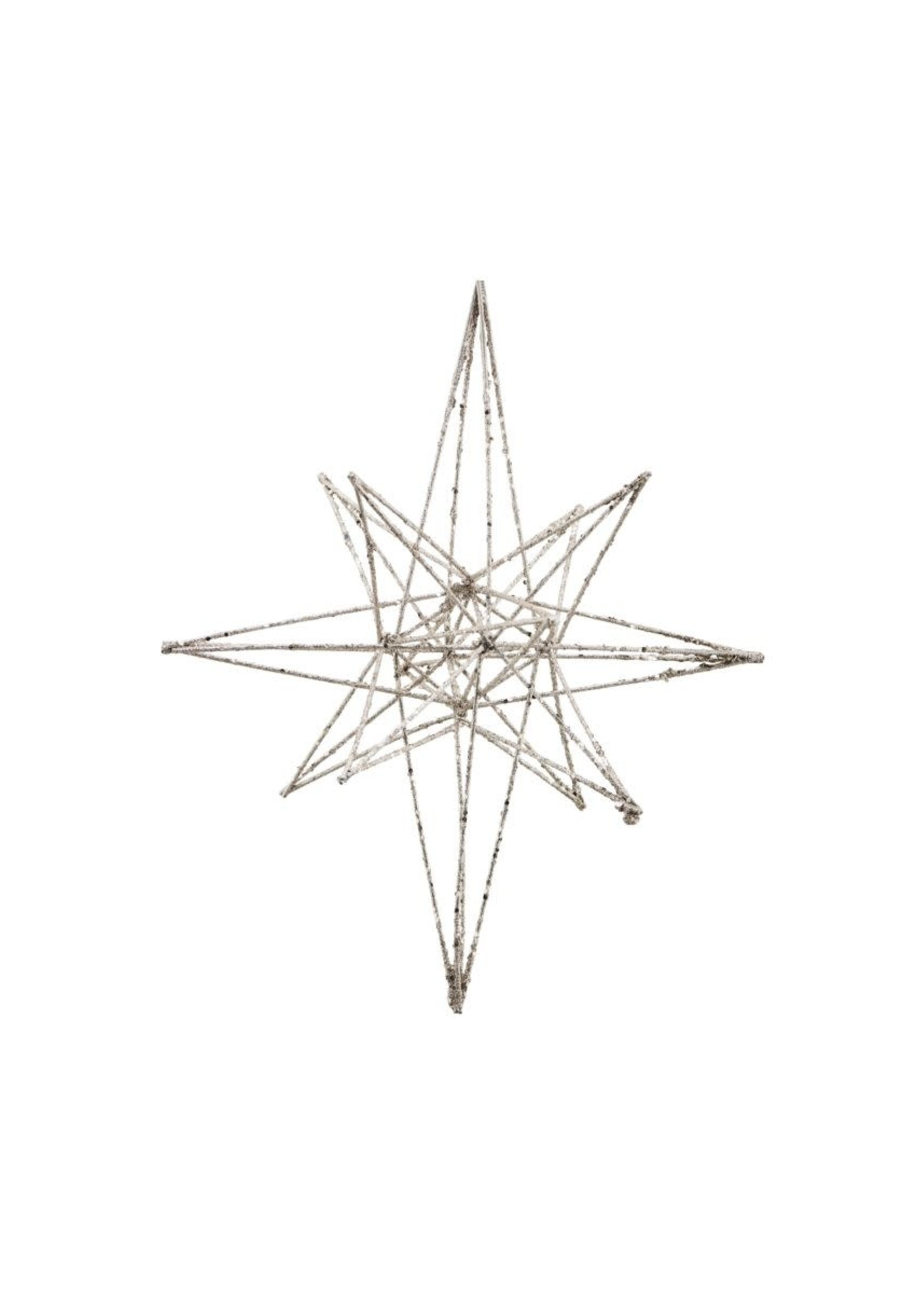 House Doctor Ornament, Star, Champagne BIG