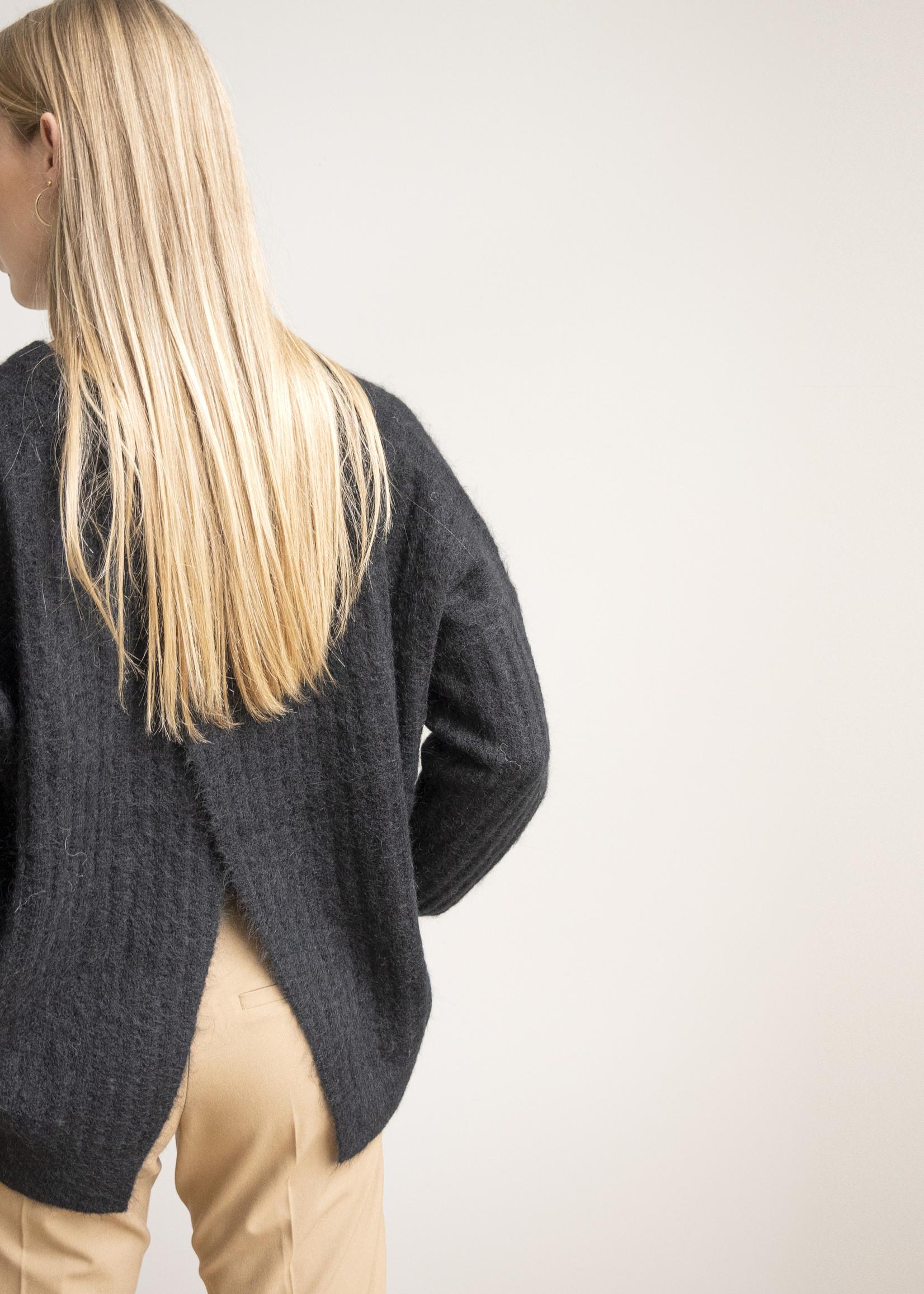 Second Female Brooky Knit Open Back O-Neck