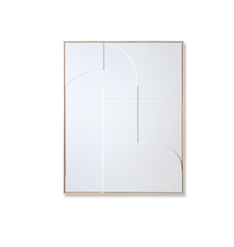 HKliving HKLiving framed relief art panel white A medium