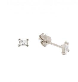 Fashionology Baguette earpins sterling silver