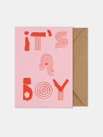 Paper Collective It's a Boy Art Card