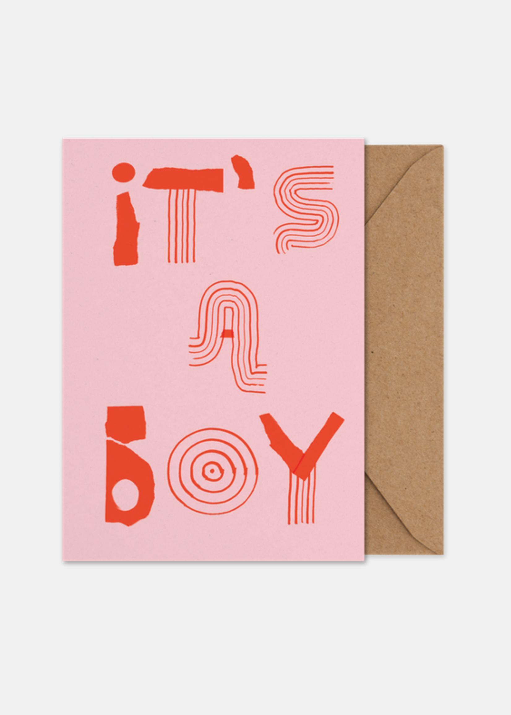 Paper Collective It's a Boy Art Card