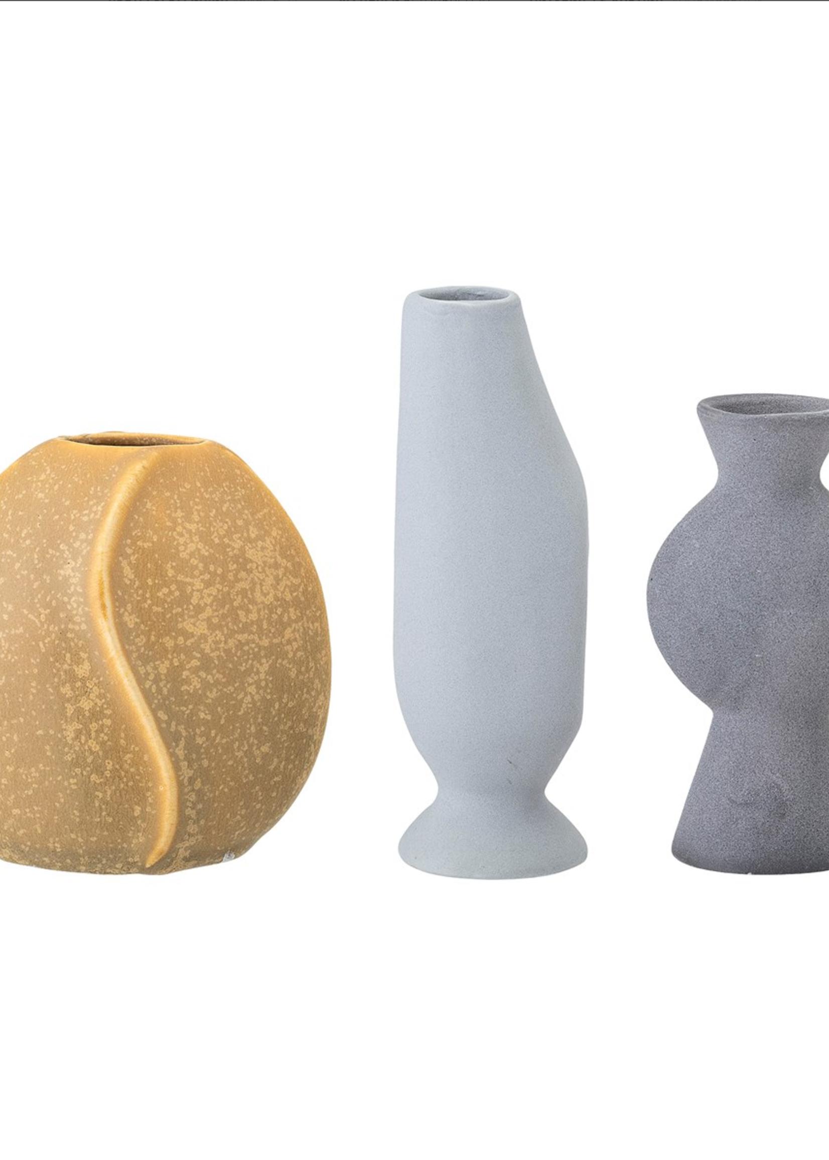 Bloomingville Mini vase stoneware oker