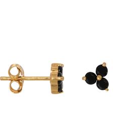 Eline Rosina Black clover earrings