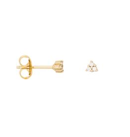 Eline Rosina Triangle Zirconia Earrings gold plated
