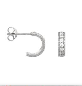 Eline Rosina Chunky Zirconia Hoops sterling zilver
