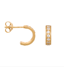 Eline Rosina Chunky Zirconia hoops gold plated