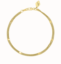 Flawed Double Violet bracelet gold plated