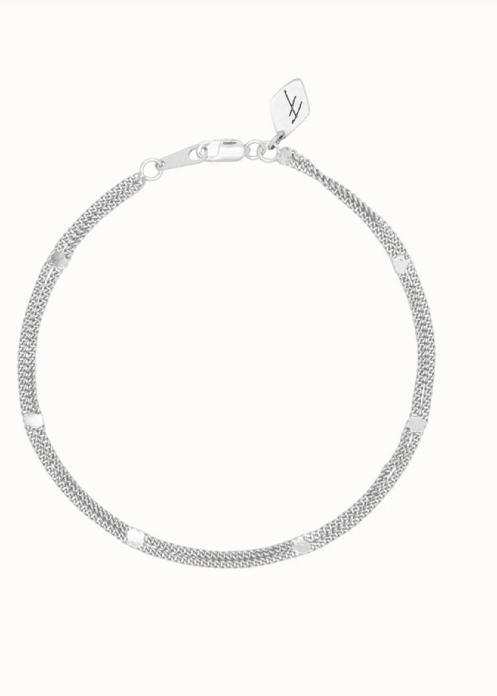 Flawed Double Violet bracelet silver