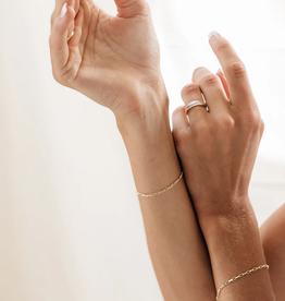 Flawed Zinnia Bracelet gold plated