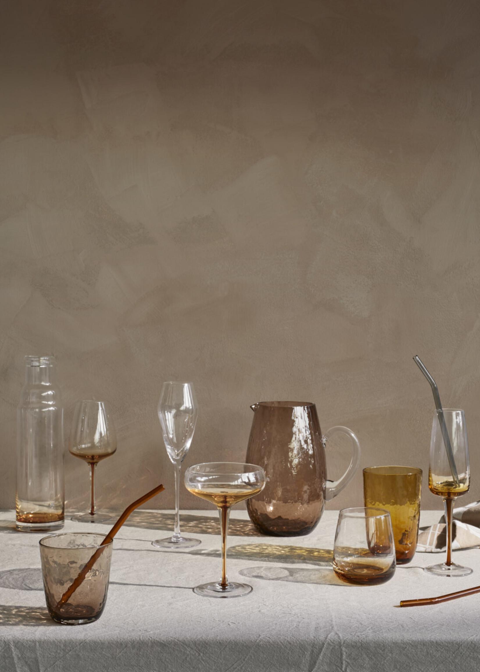 Broste Cocktailglas Amber, set van 2