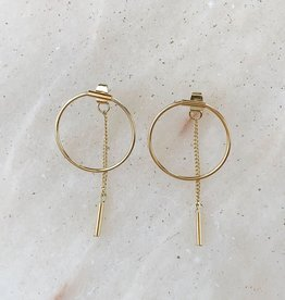 Essyello Necklace  Circle Earring