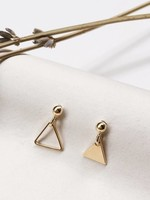 Essyello Earring Dangle Full Empty Triangle