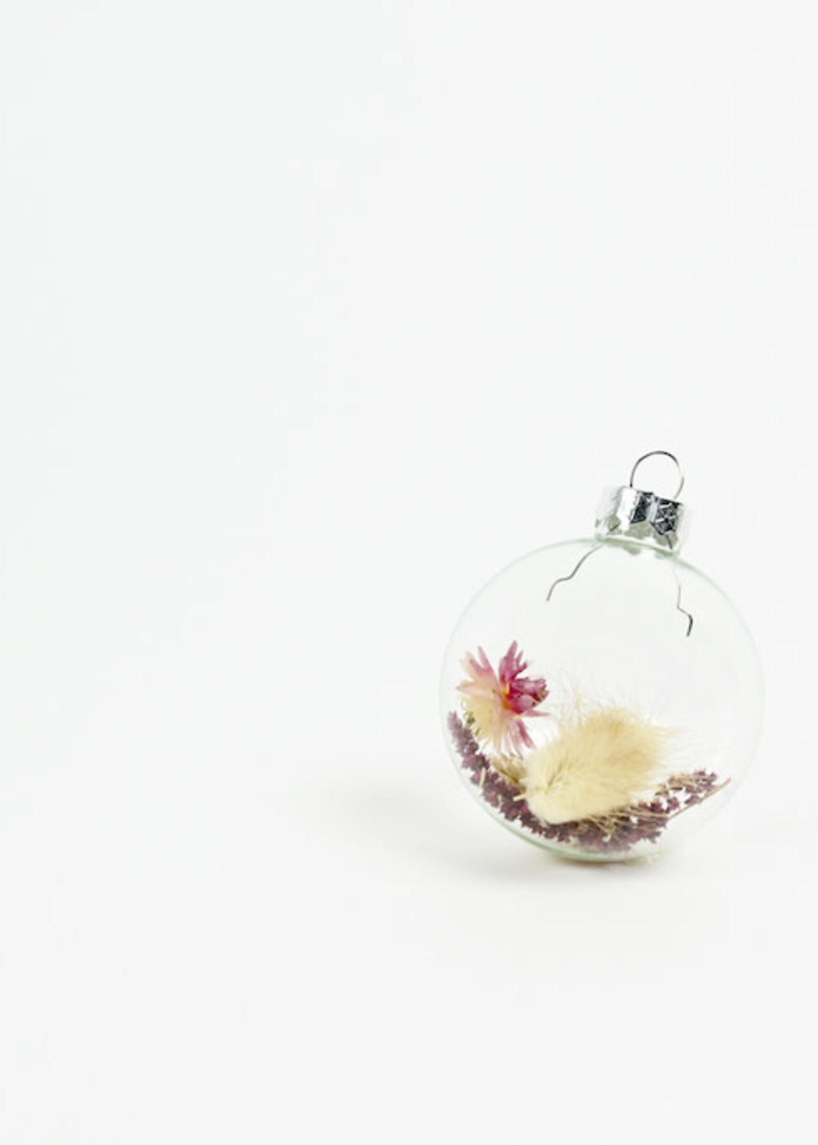 Mood Kerstbal met droogbloemen