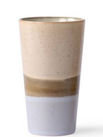 HKliving Latte mug taupe/spikkle/purple