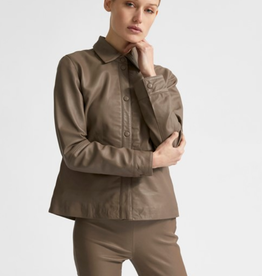 Selected Femme Moon leather shirt