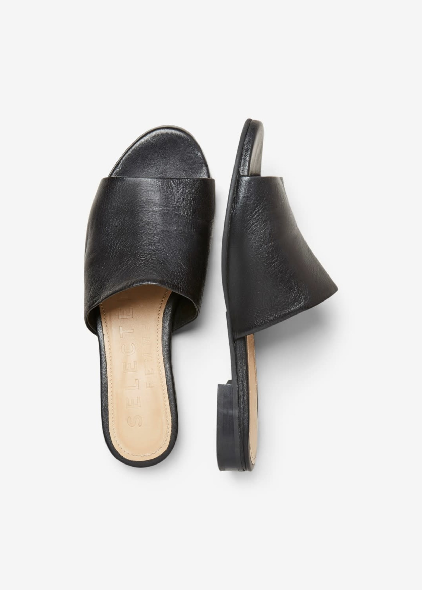 Selected Femme Merle Leather Mule