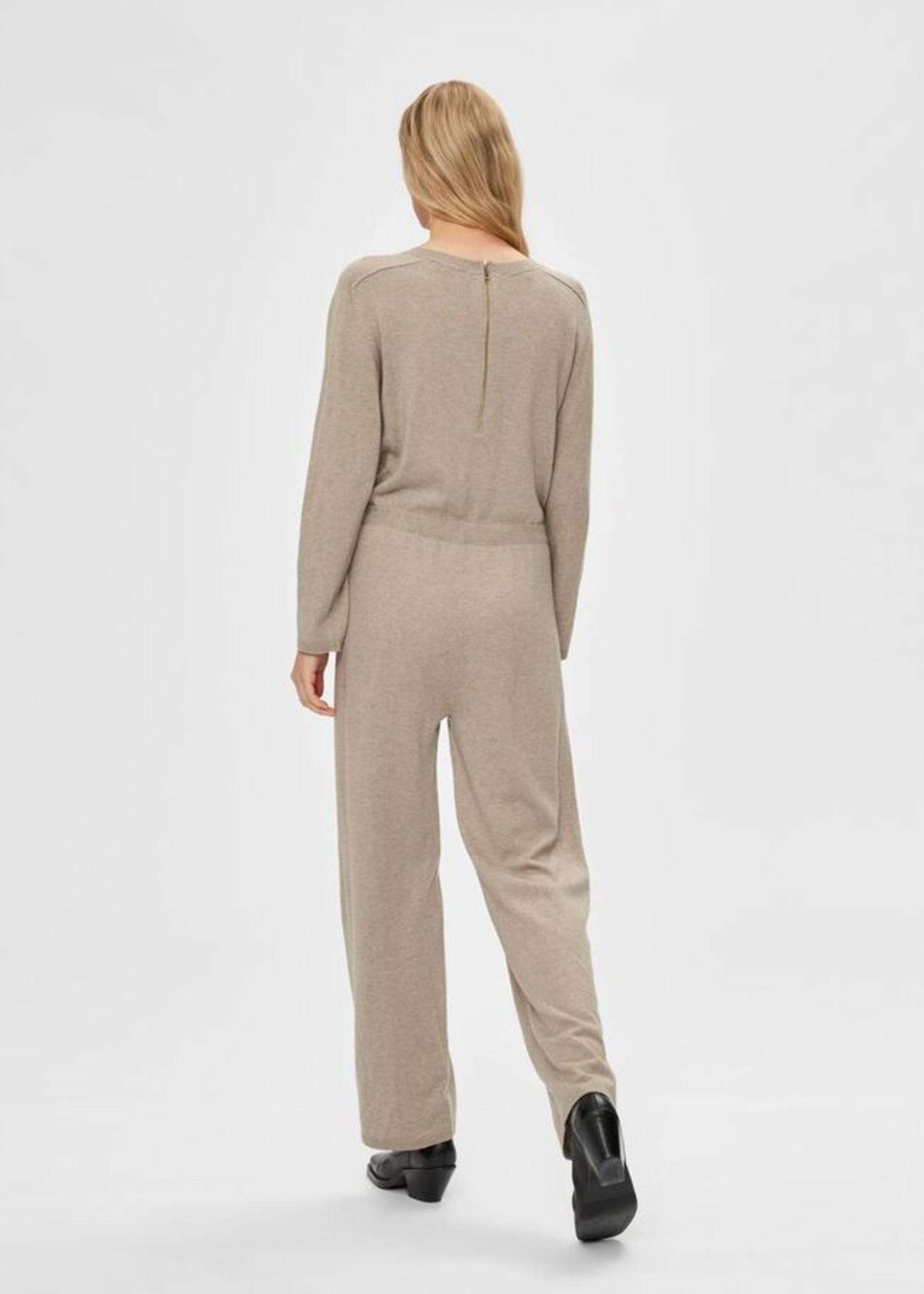 Selected Femme Inka cashmere knit jumpsuit