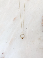 Essyello Necklace, circle with simple detail