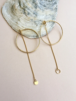 Essyello Big hoop chain circle gold plated earrings