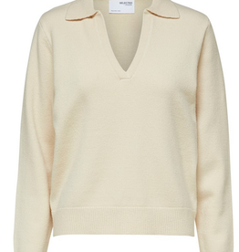 Selected Femme Aeya knit polo