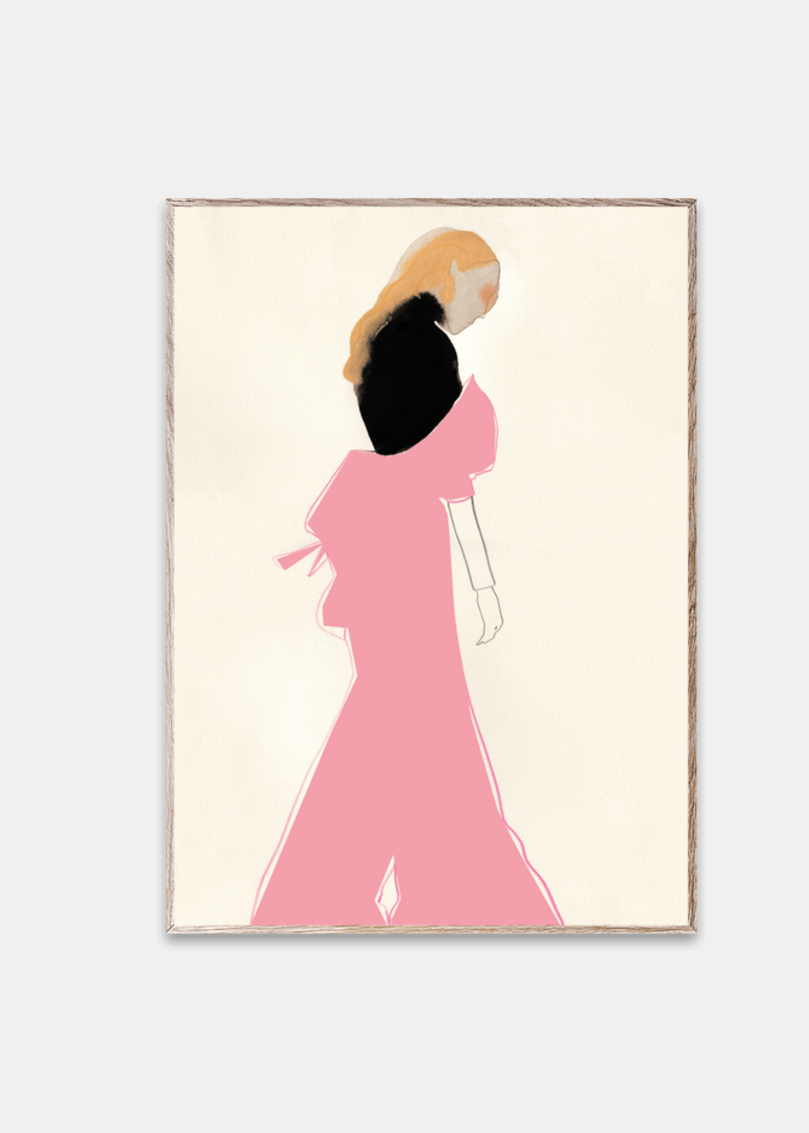 Paper Collective Pink dress 30 x 40