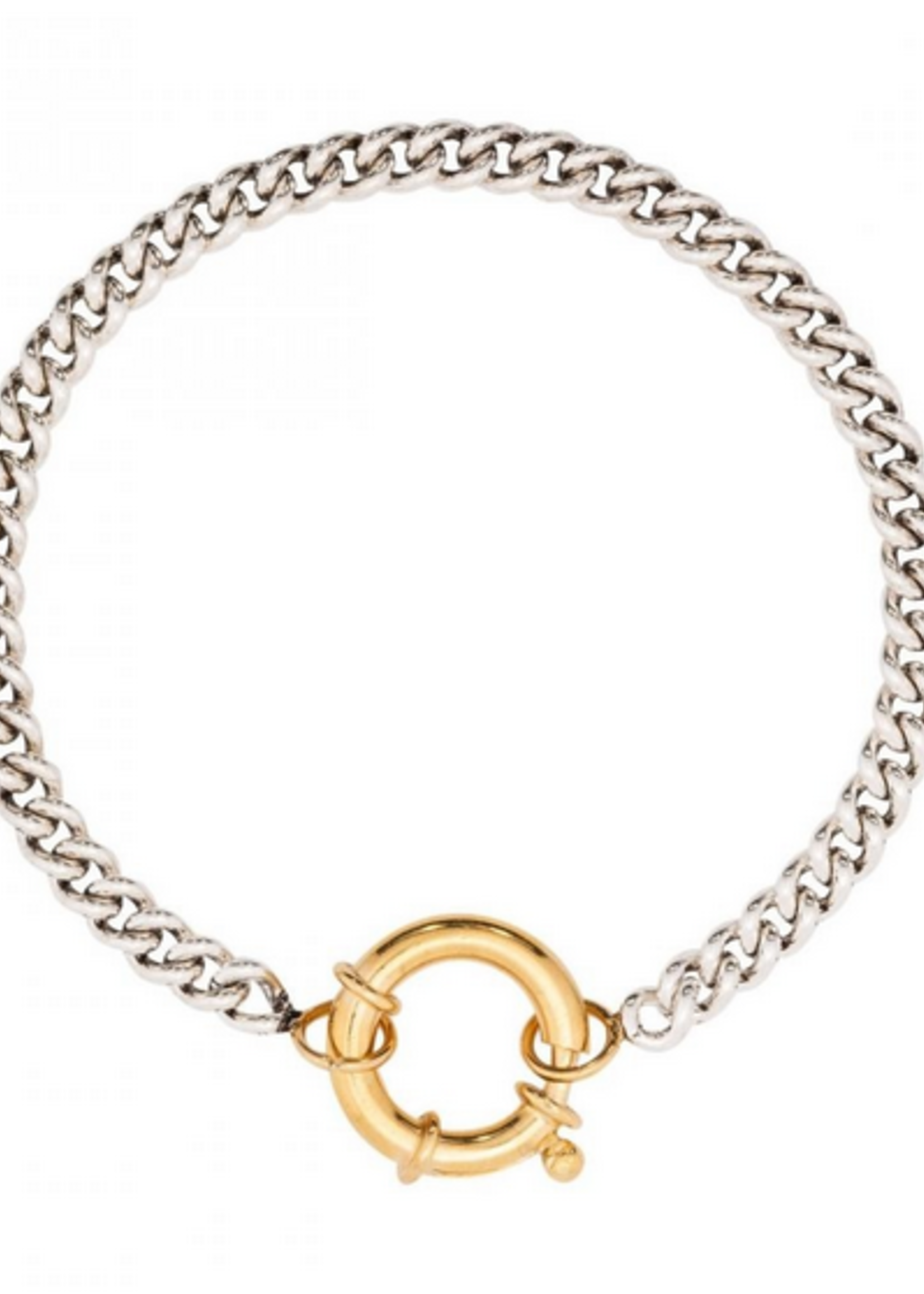 Fashionology  Big Clasp Bracelet Mixed