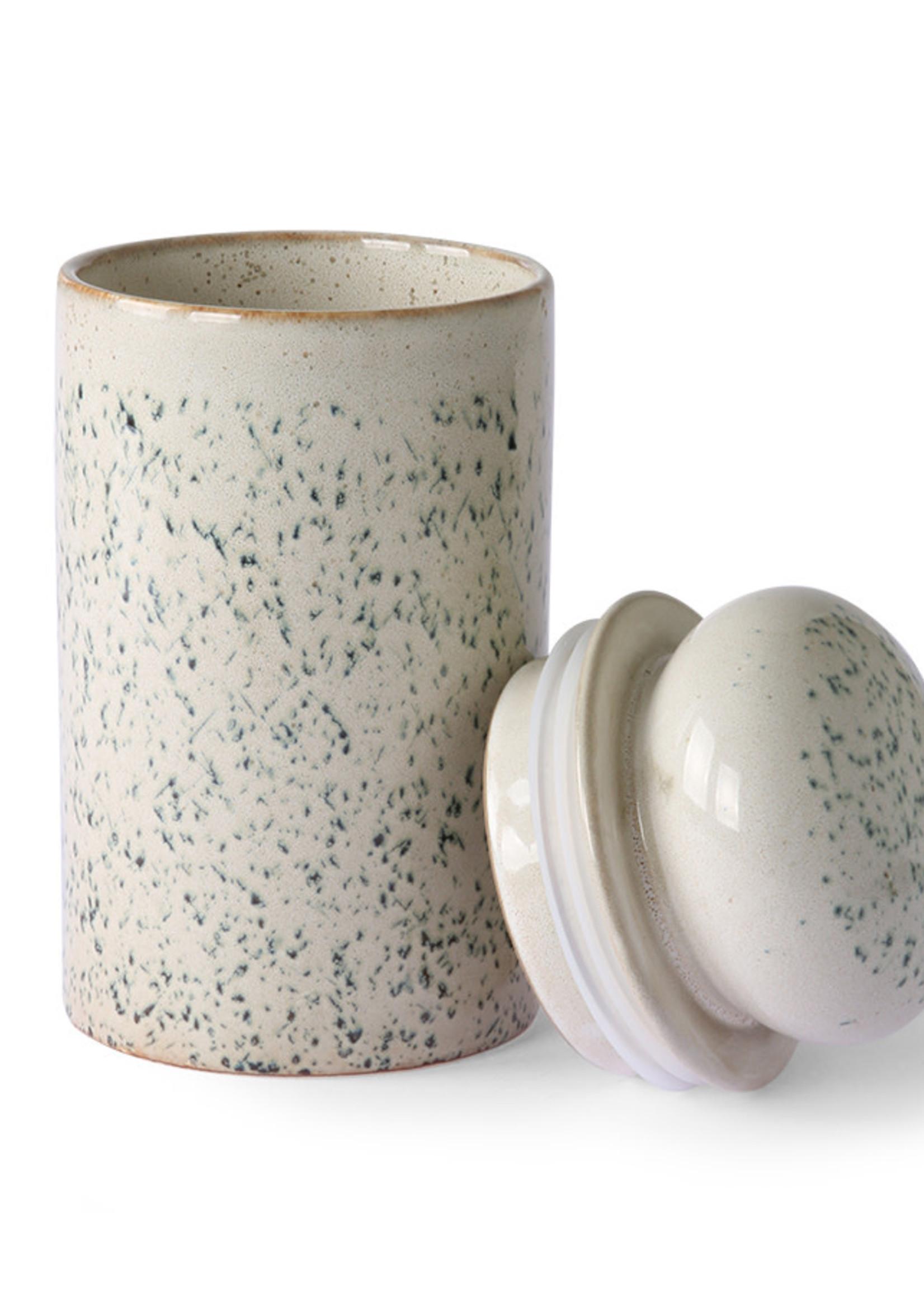 HKliving 70s ceramics: storage jar, hail