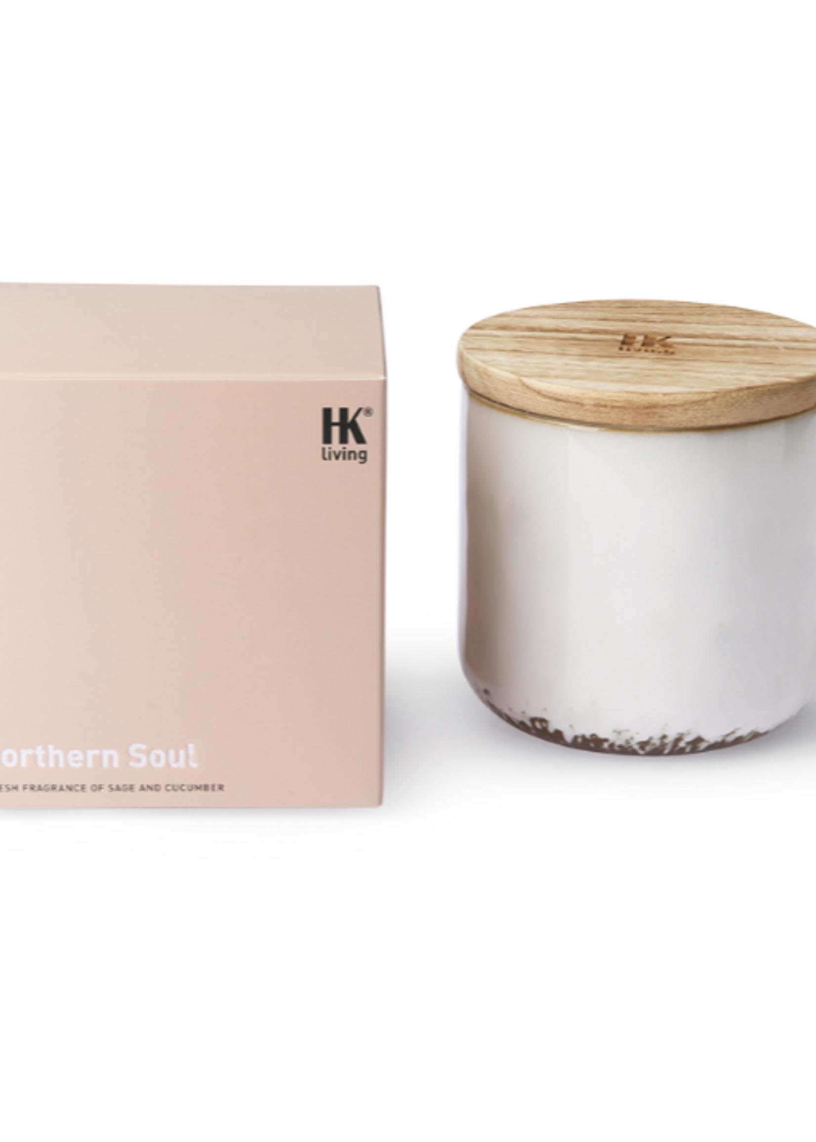 HKliving ceramic scented candle:  northern soul