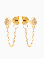 Eline Rosina Drop chain earrings gold plated