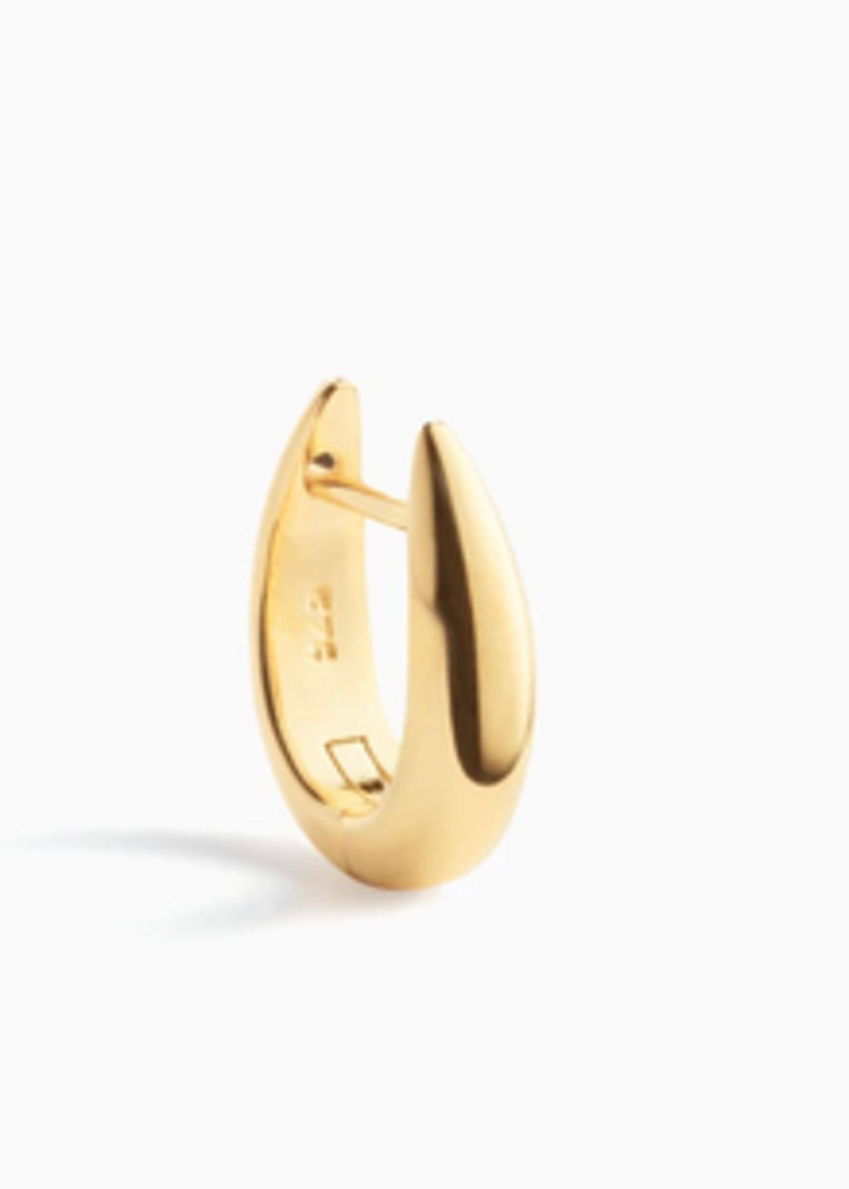 Eline Rosina Single frame huggie hoop gold plated
