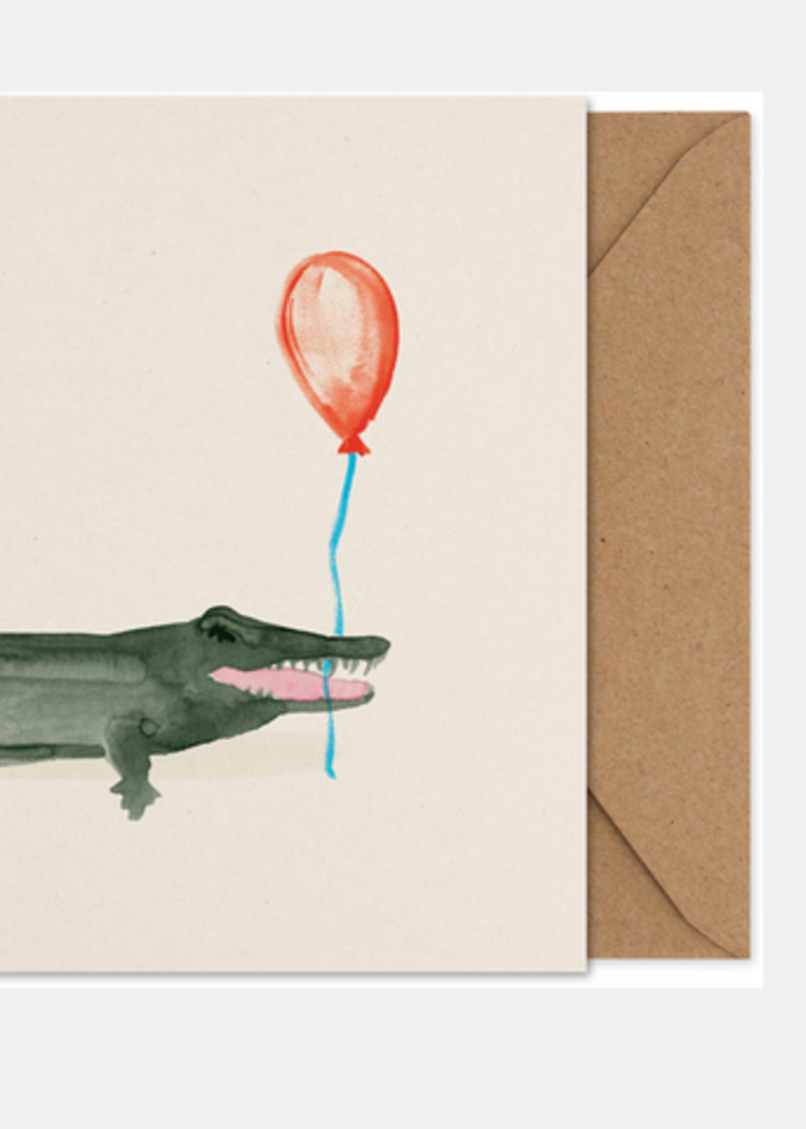 Paper Collective Coco the crocodile  Art Card