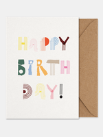 Paper Collective Art card Happy birthday