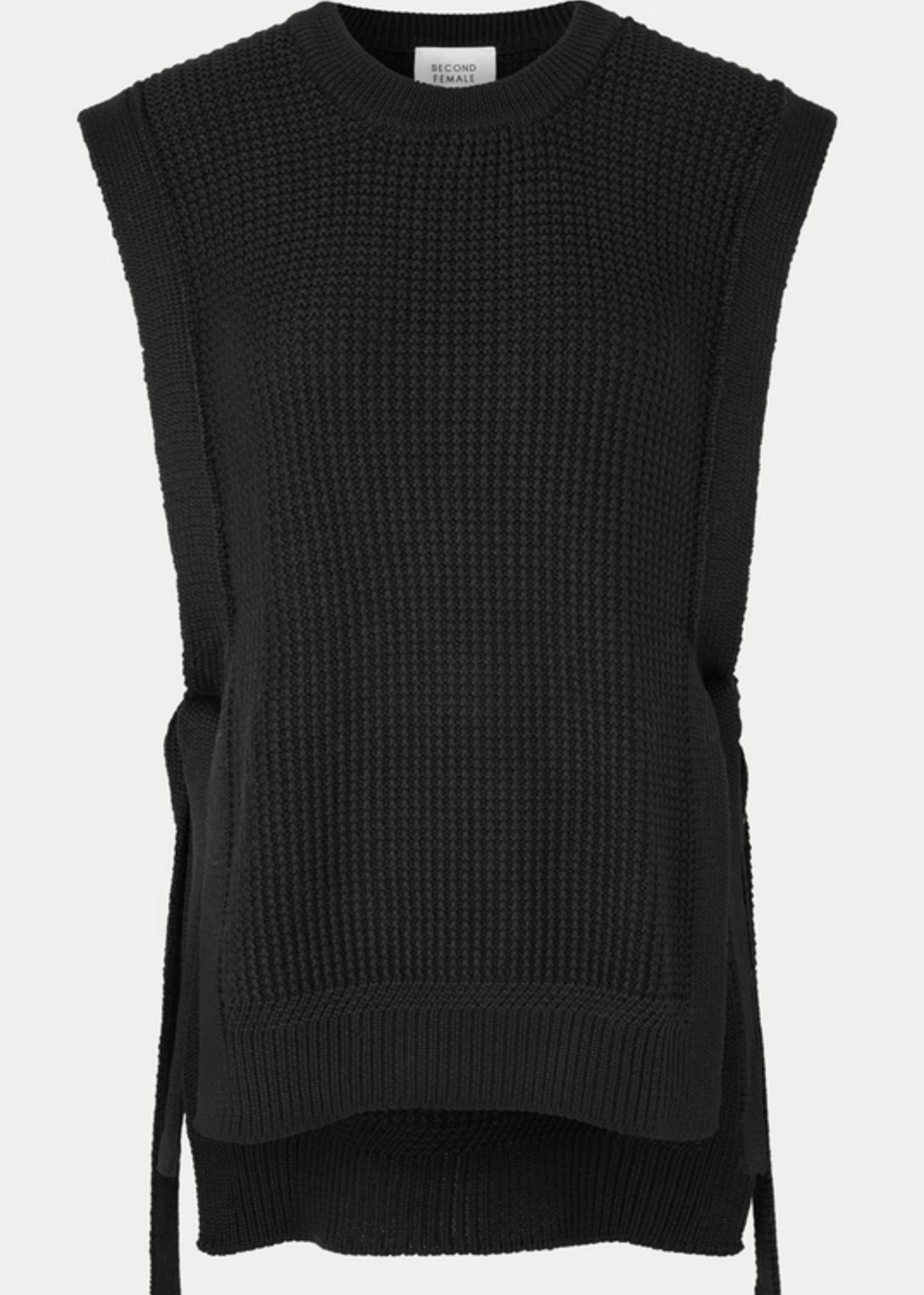 Second Female Aventurine Knit Vest black