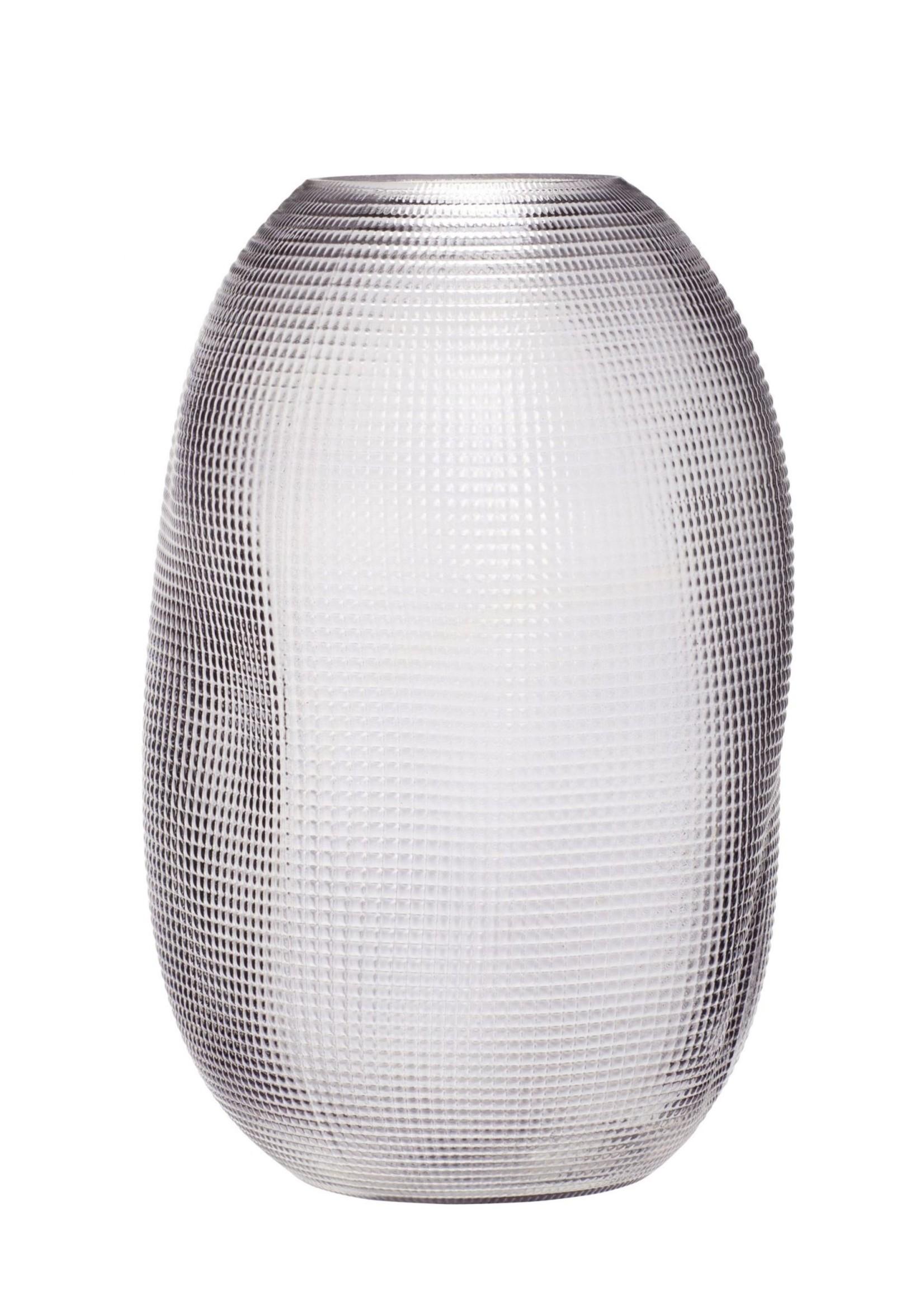 Hubsch Vase, glass, smoked