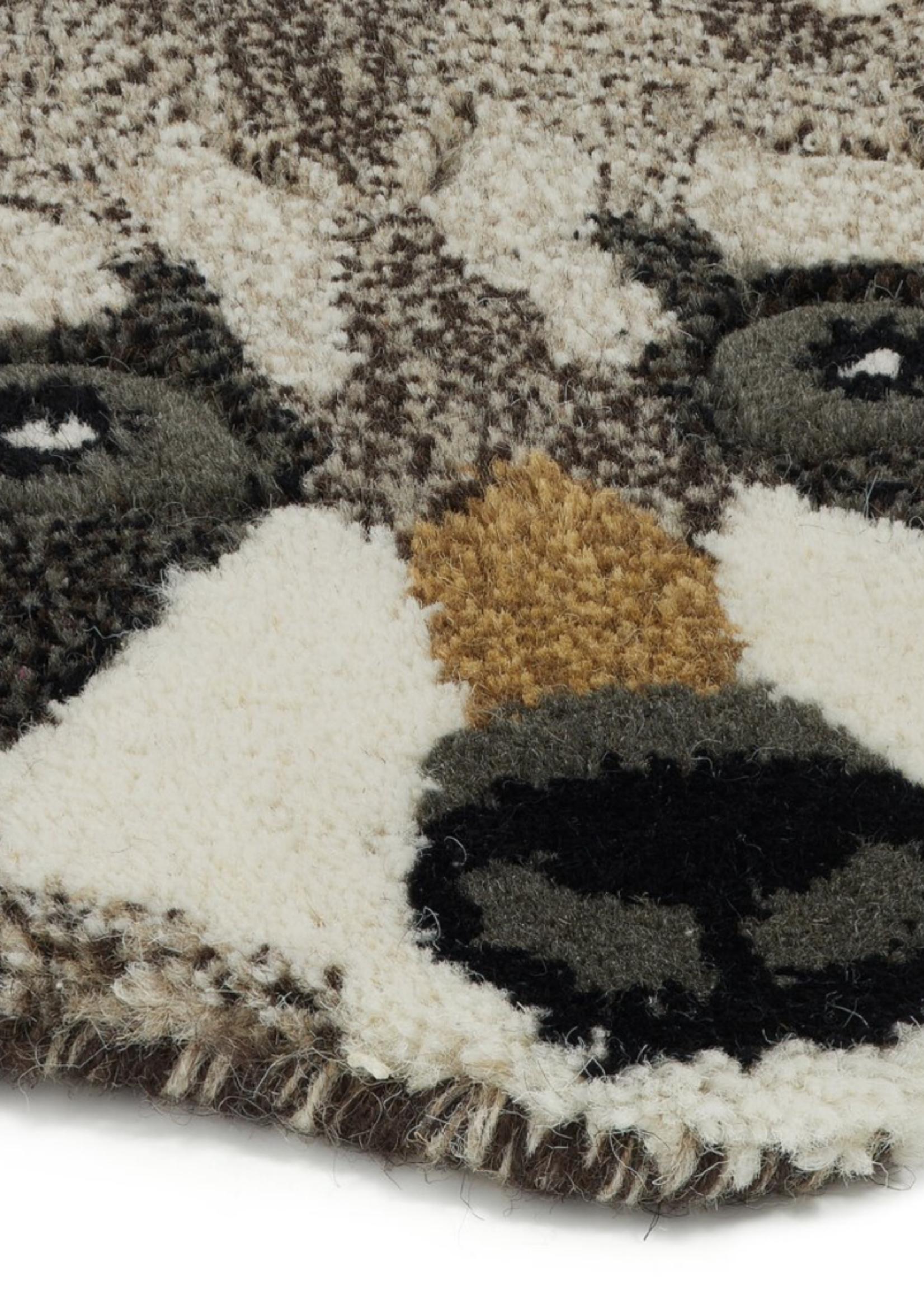 Doing Goods Rocky racoon head rug