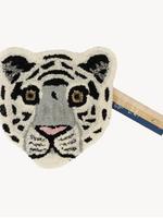 Doing Goods Snowy tiger head rug