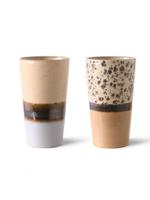 HKliving Ceramic 70's latte mug per stuk