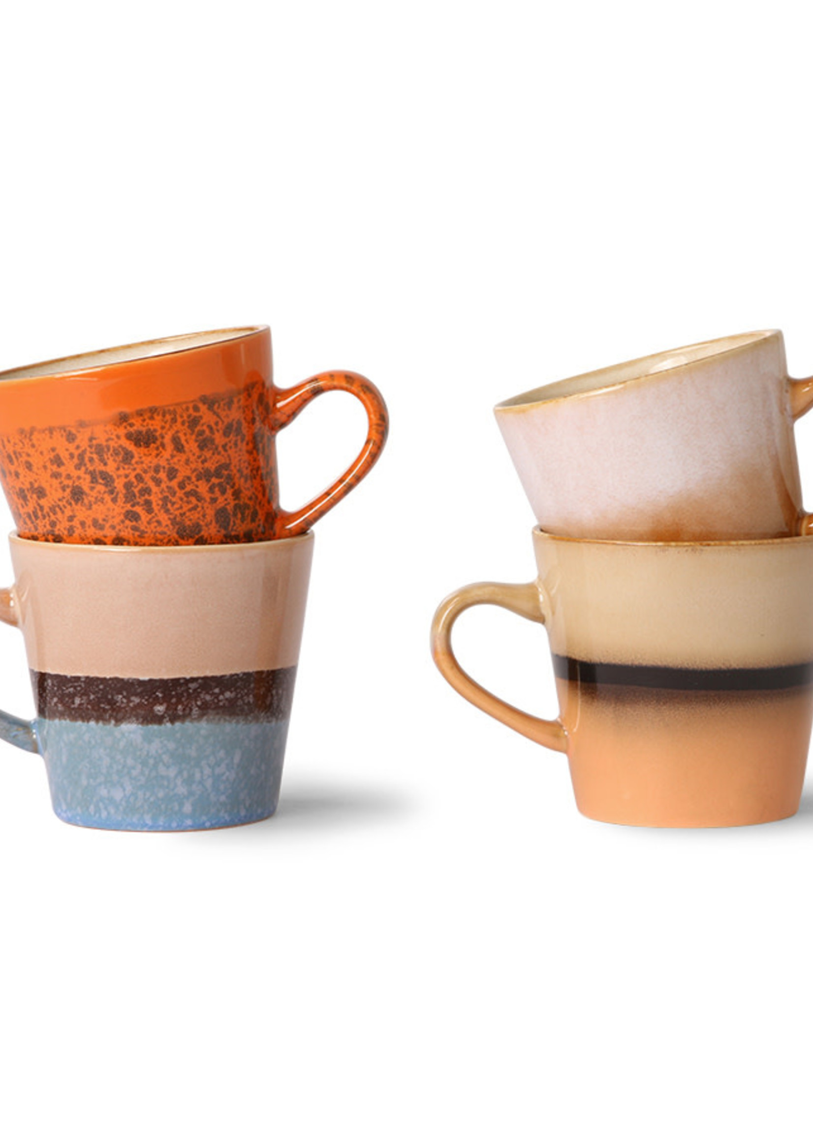 HKliving Ceramic americano 70's mug set