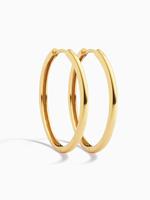Eline Rosina Classic plain hoops gold plated (30mm)