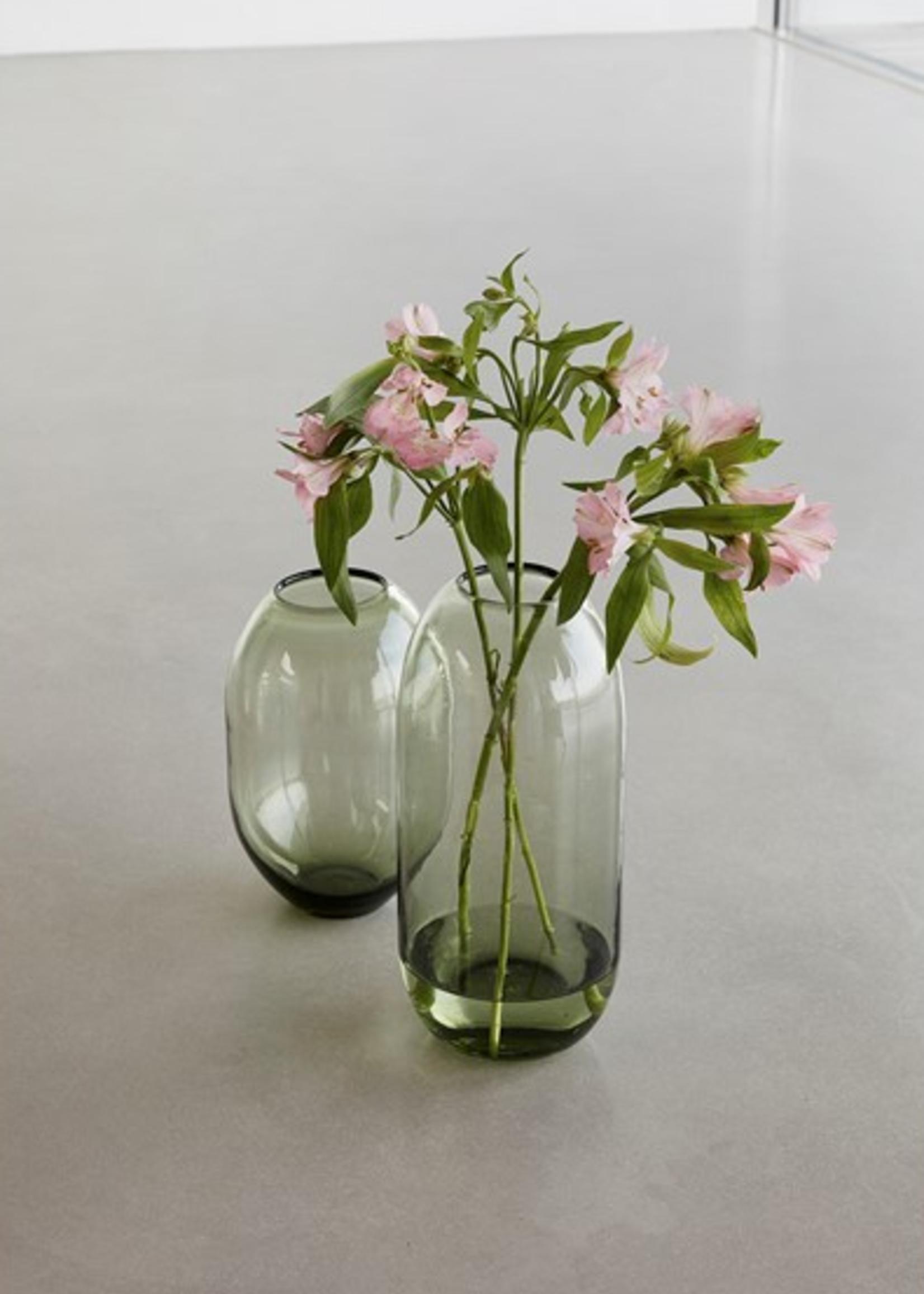 Hubsch Vase, glass, green small