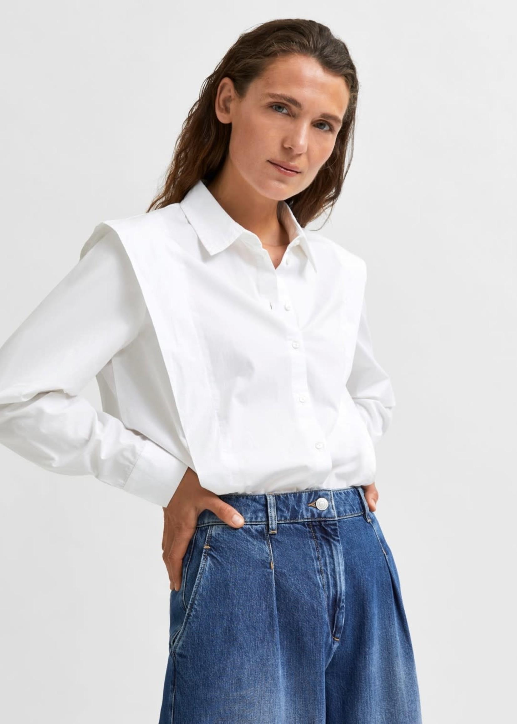 Selected Femme Bello shirt White