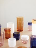 Hubsch Storage jar w/lid, glass, pink 9 x 13 cm
