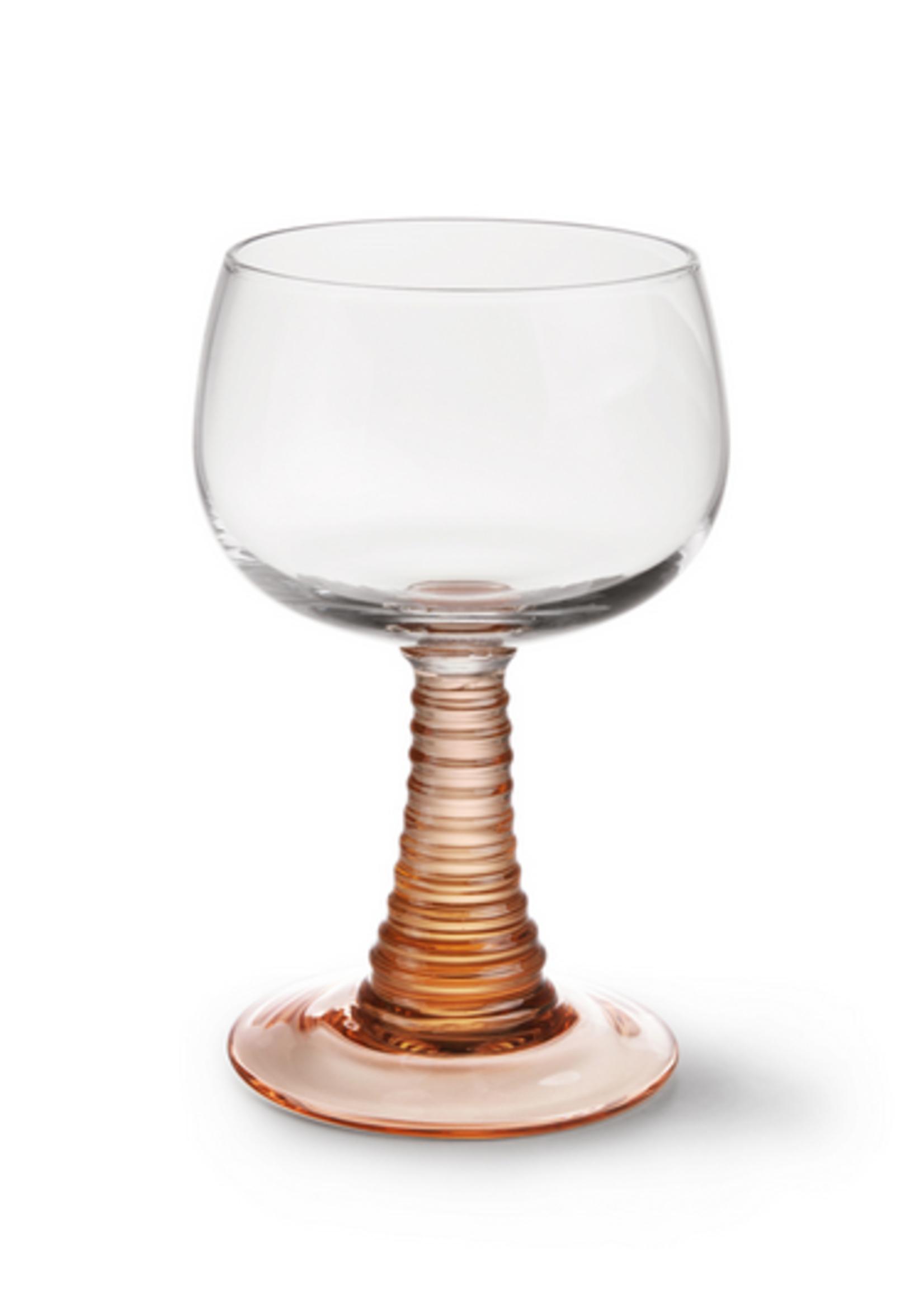 HKliving Swirl wine glass nude