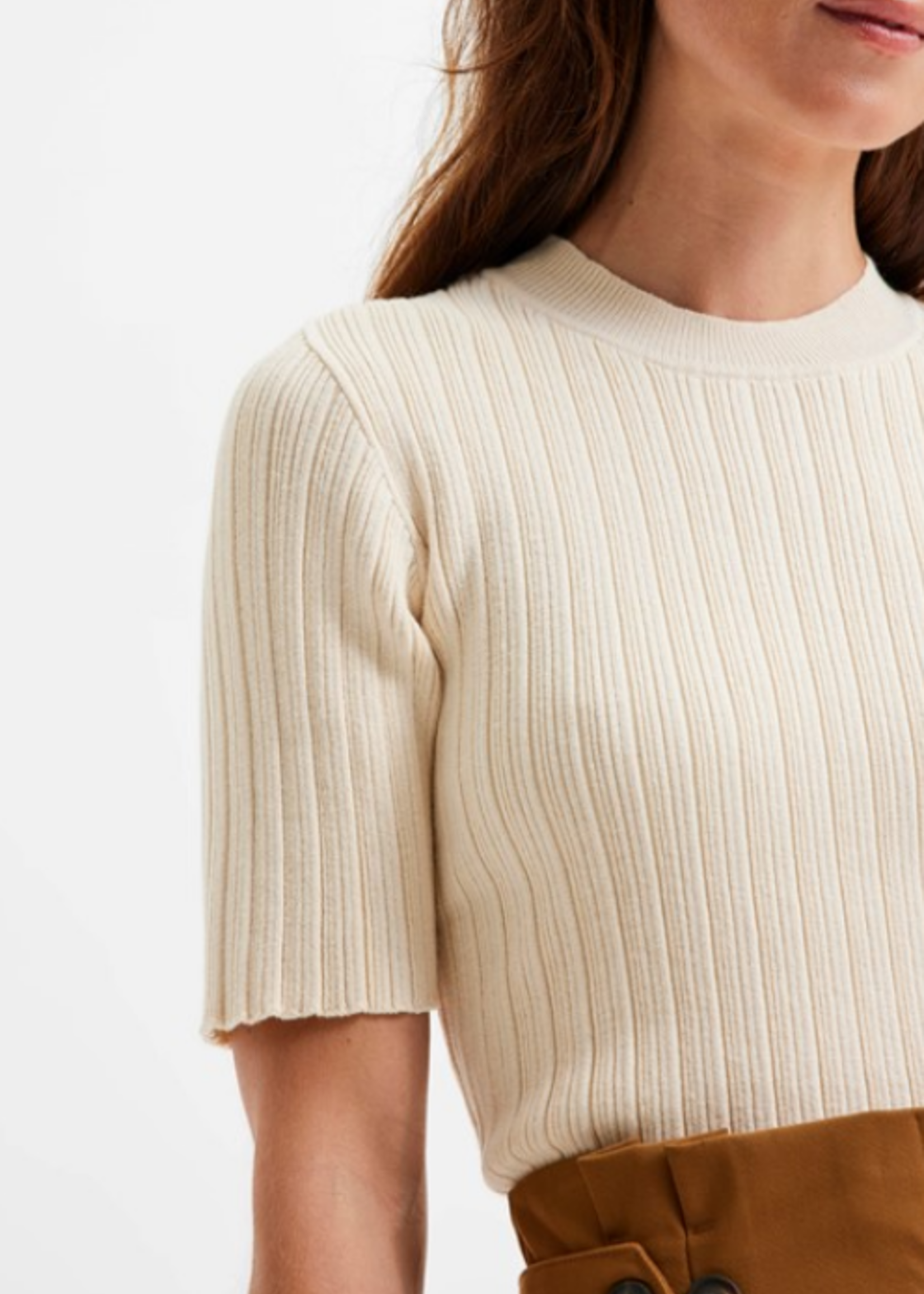 Selected Femme Queen rib knit o-neck