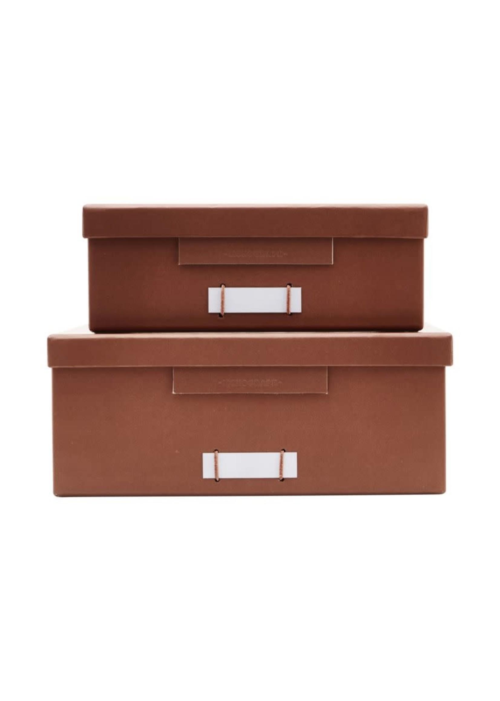 House Doctor Boxes w. lids, File, Cognac set