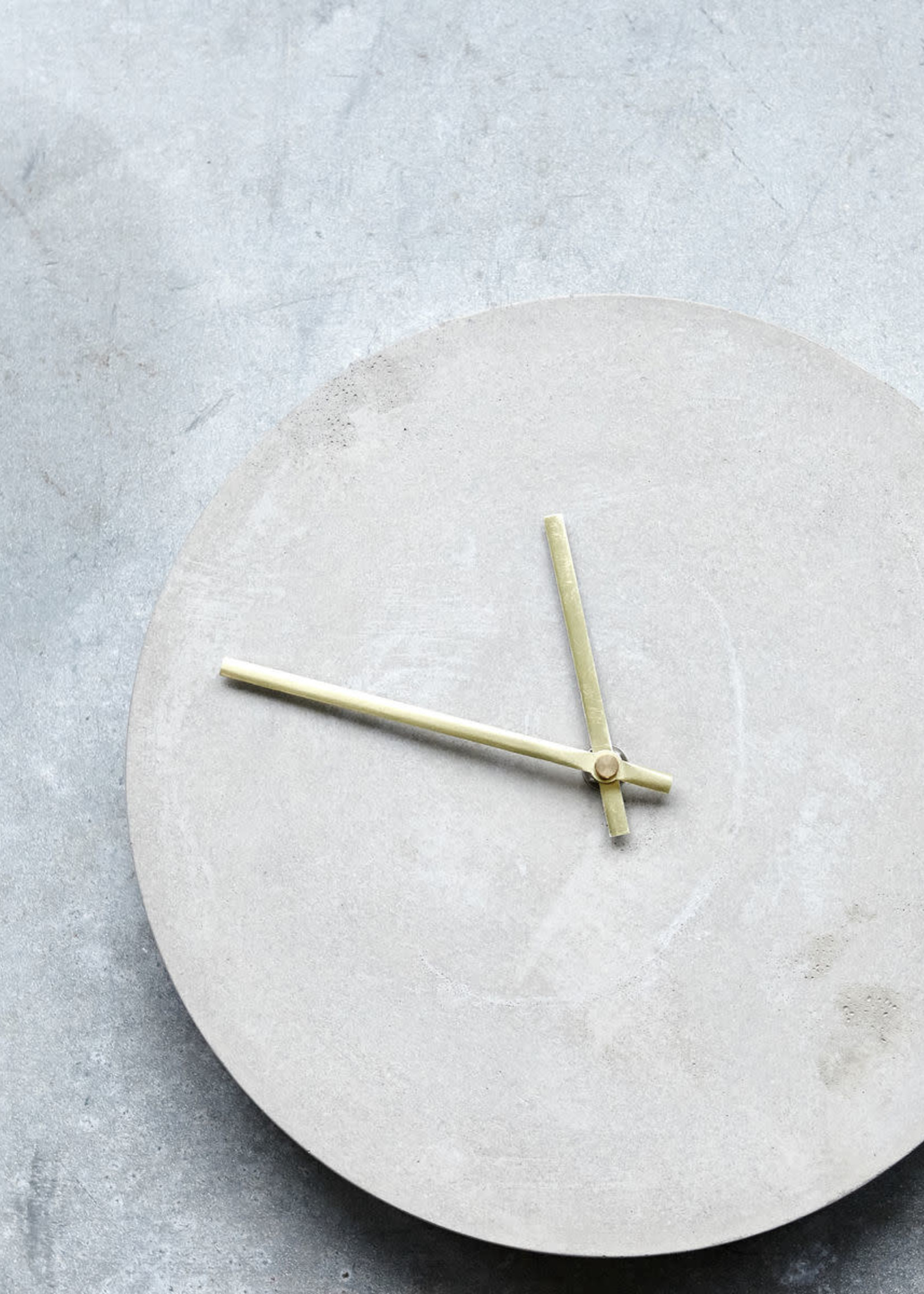 House Doctor Wall clock, Watch, Concrete